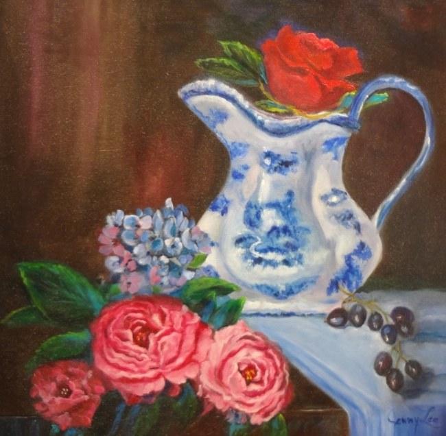 Vase, flowers still life