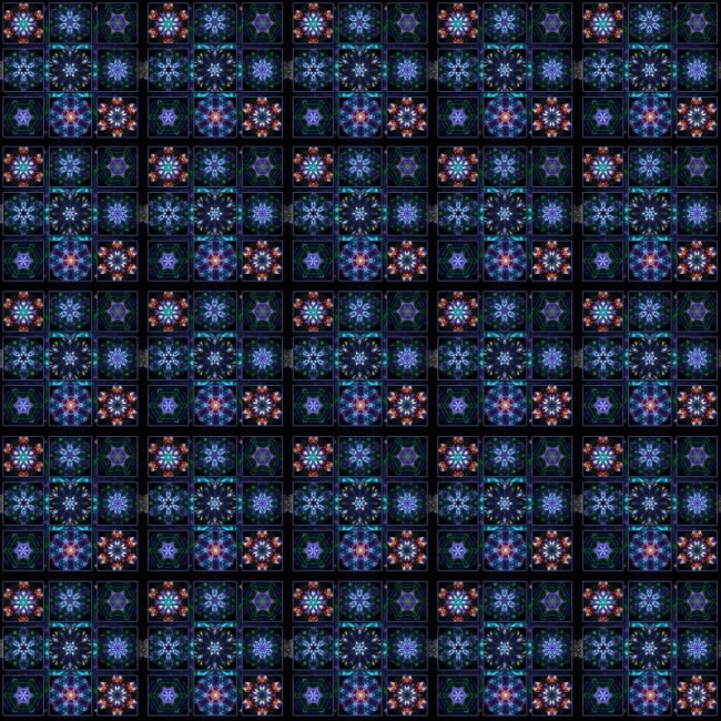 Blue Fractal Collage