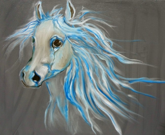 Misty - Horse painting