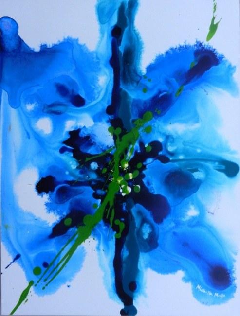 Blue Green Splash