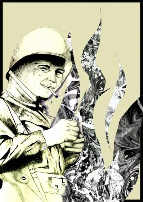 Soldier Illustration digital print