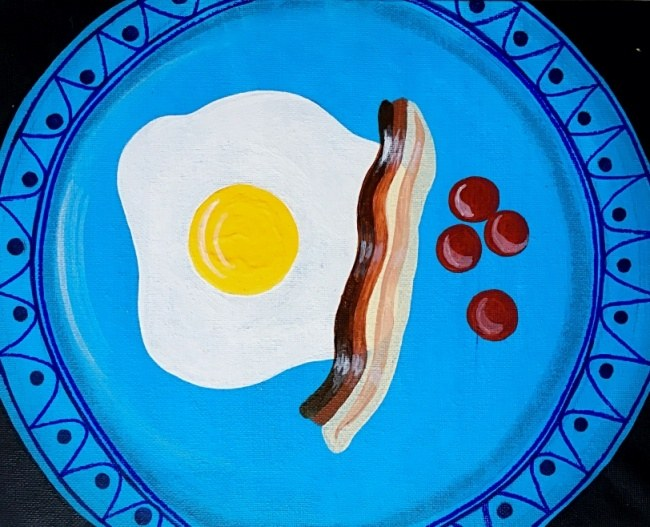 Egg and Bacon with Cherry Tomatoes (#38)