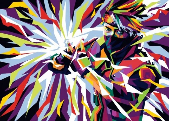 Kakashi in wpap pop art style