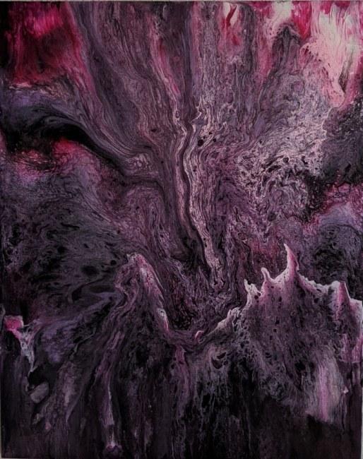 """Chaos"" acrylic on canvas"