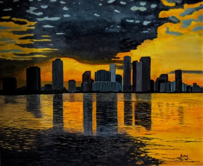 Oils on canvas