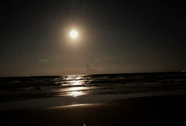 Moonlight on Gulf of Mexico