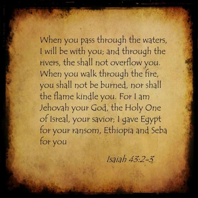 Isaiah 43:2,3