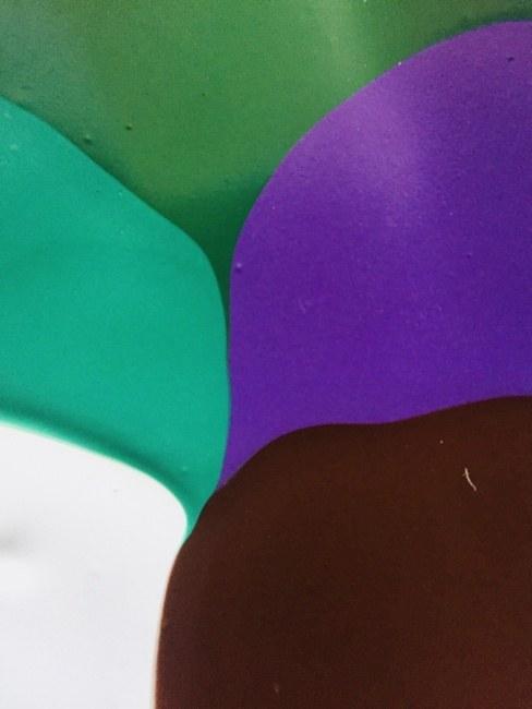 Green White Brown Purple Flow