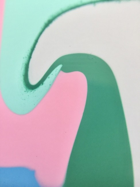 Pink Green White Flow