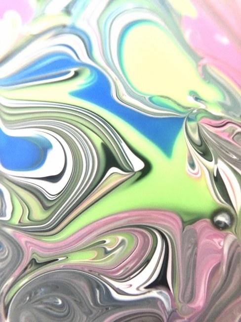 Green Blue Strings Flow