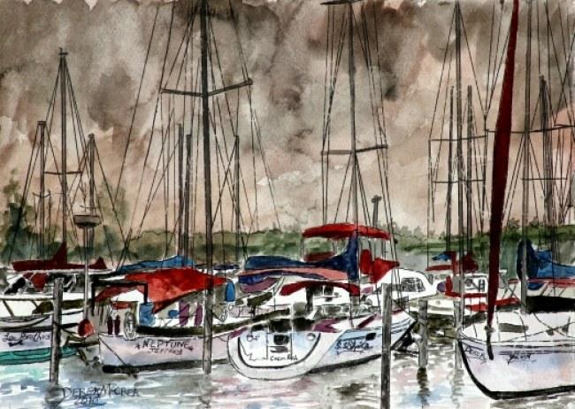 Sailboats nautical art prints