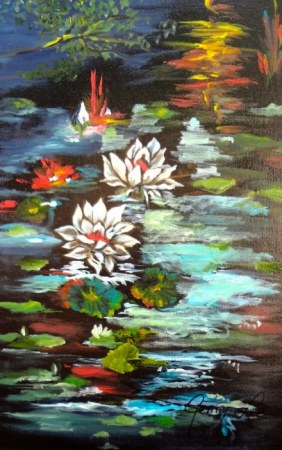 Monet's Pond with Lotus 1