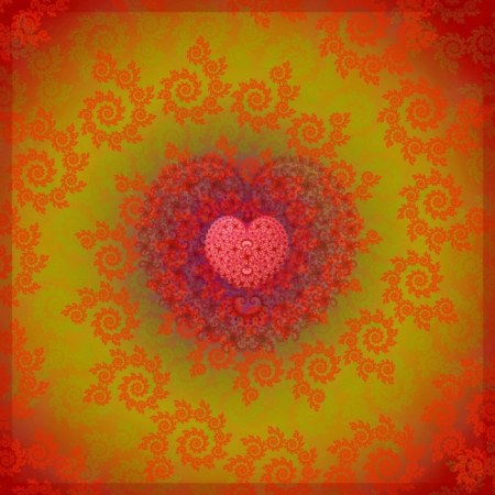 Ethnic Heart Fractal Pattern