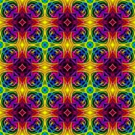 Retro Hippie Rainbow Design