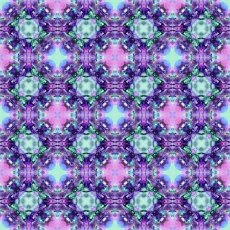 Fractal Pattern Purple and Turquoise