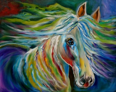 Thunder Cloud - Horse painting