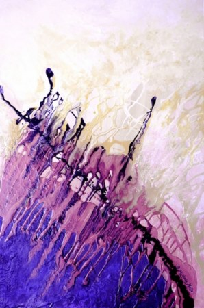 Lavender Dance - Abstract painting
