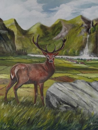 Twelve Point Highland Stag