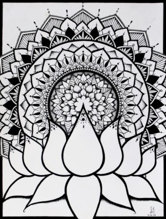 Lotus Mandala Drawing