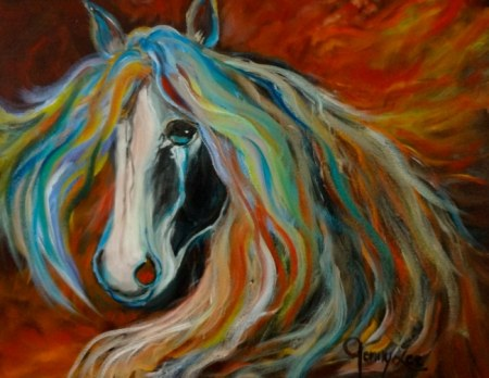 Dark Thunder - Horse painting