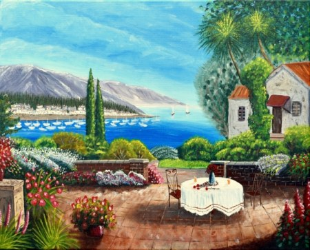 Mediterranean Breeze Acrylic Painting