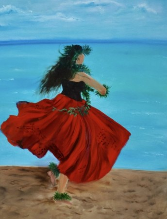 Hula Girl on the Beach