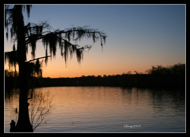 Sunset on the Tchefuncte River