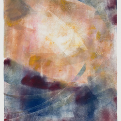 Modern abstract monotype