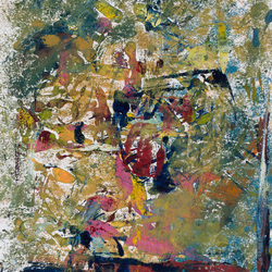 Abstract monotype painting