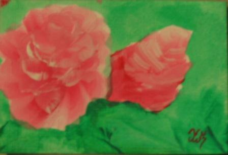 ACEO ATC - Flower 1