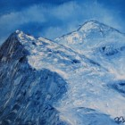 Blue Winter series 5 - Snowy Mountain
