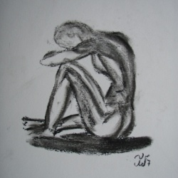 Charcoal figure study 1 SOLD and sent to USA