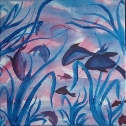 Swimming in the Seaweeds in BLUE by Trine Meyer Vogsland