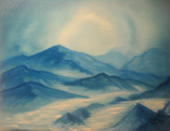 Blue Winter series 4 - Blue Mountains