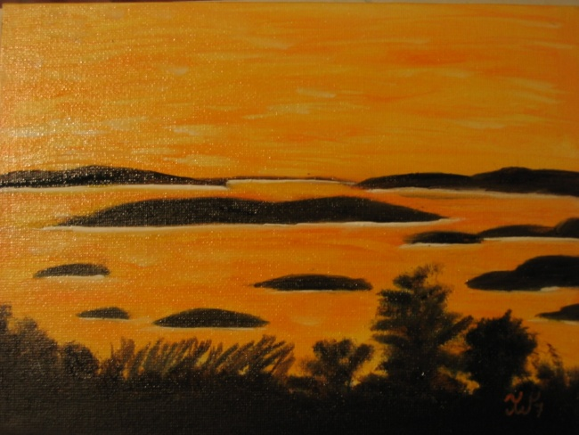 Calm Seascape in Yellows