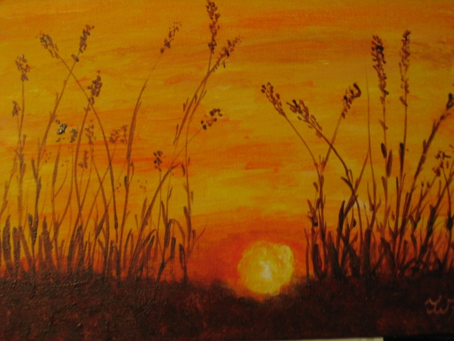 Warm Landscape - Straws in Sunset SOLD