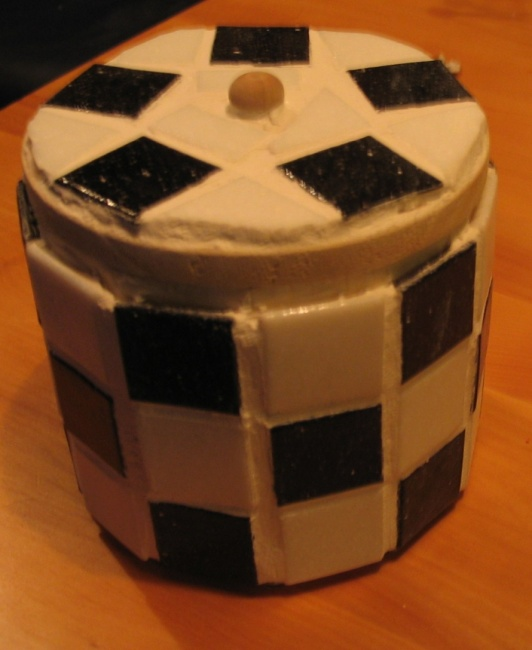 Manysided box with mosaic