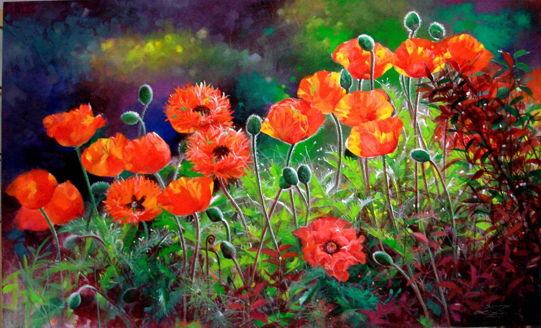 Nacarat poppy | Liboart