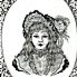 victorian GIRL WITH HAT AND FEATHERS