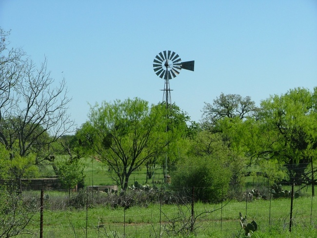 Windmill in Texas Hill Country