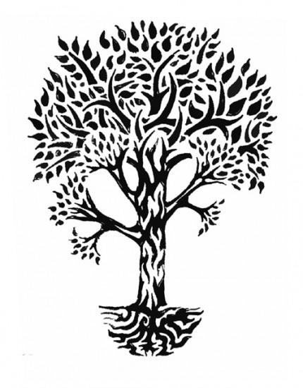 Tribal Family Tree Tattoo Designs