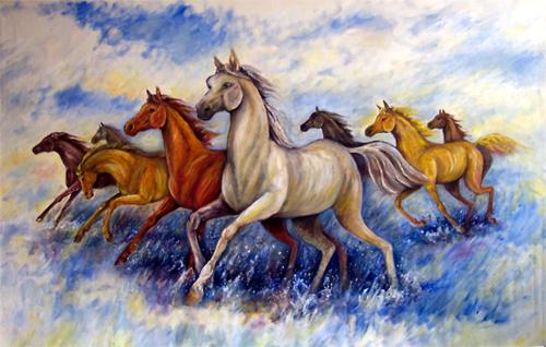 Seven White Running Horses Wallpaper Seven Horses Wallpaper Seven