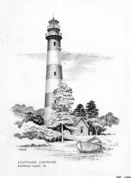 Line Art Lighthouse : Assateague island lighthouse jgoebelart foundmyself