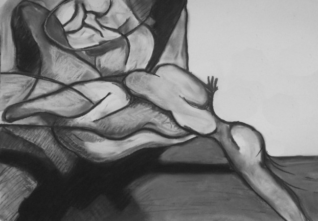Reaching Oblivion (based on Study for Figure in Landscape)