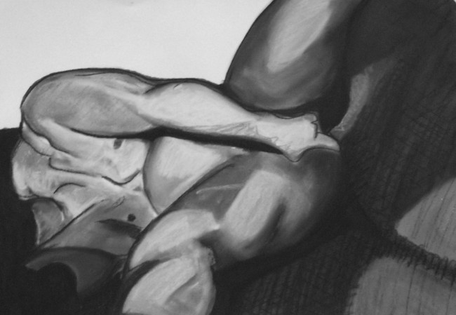 Study for reclining male nude