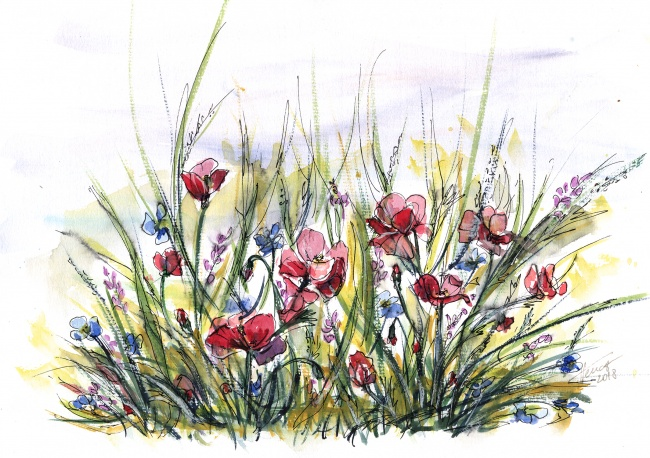 Longing for summer - original watercolor painting