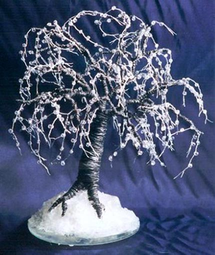 Black Ice - Wire Tree Sculpture