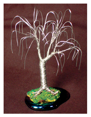 Small Oak, wire tree sculpture