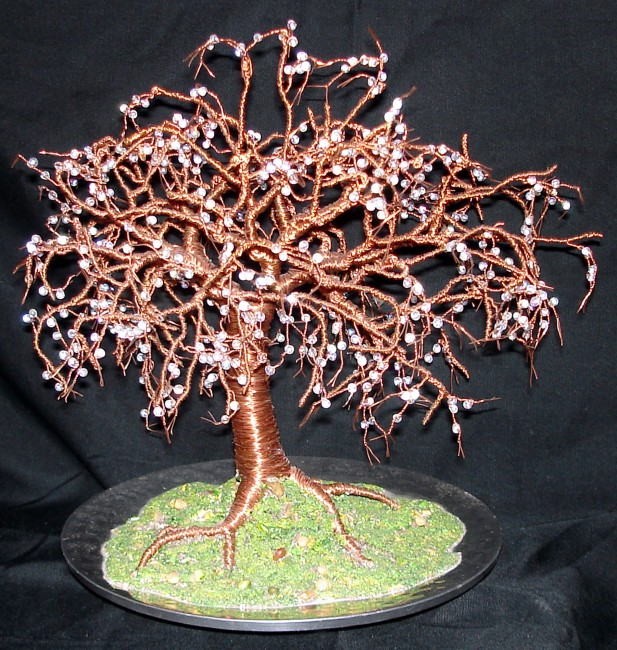 Crystal Willow - Wire Tree Sculpture