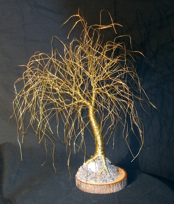 Full Willow Wire Tree Sculpture